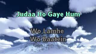 Wo Lamhe ZeherHIndi Karaoke Latest YouTube