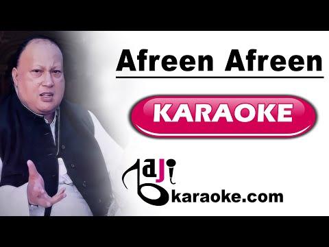 Afreen Afreen - Video Karaoke - Nusrat Fateh Ali - by Baji karaoke