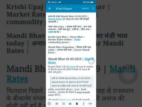 Mandi Bhav 01-03-2019 // Mandi Rates 01-March-2019 // Market Rates // Narma Kapas Dhaan Gawar Bhav
