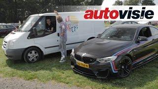 Kamikazeactie in bestelbus over Nordschleife - by Autovisie TV