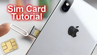 How to Insert & Remove Sim Card iPhone XS & iPhone XS Max - Video