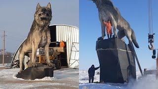 В Казахстане установили памятник волку. Прародитель тюрок