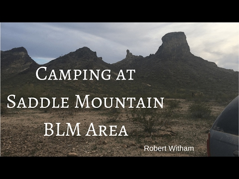 Camping at Saddle Mountain BLM Area - Van Life in Arizona