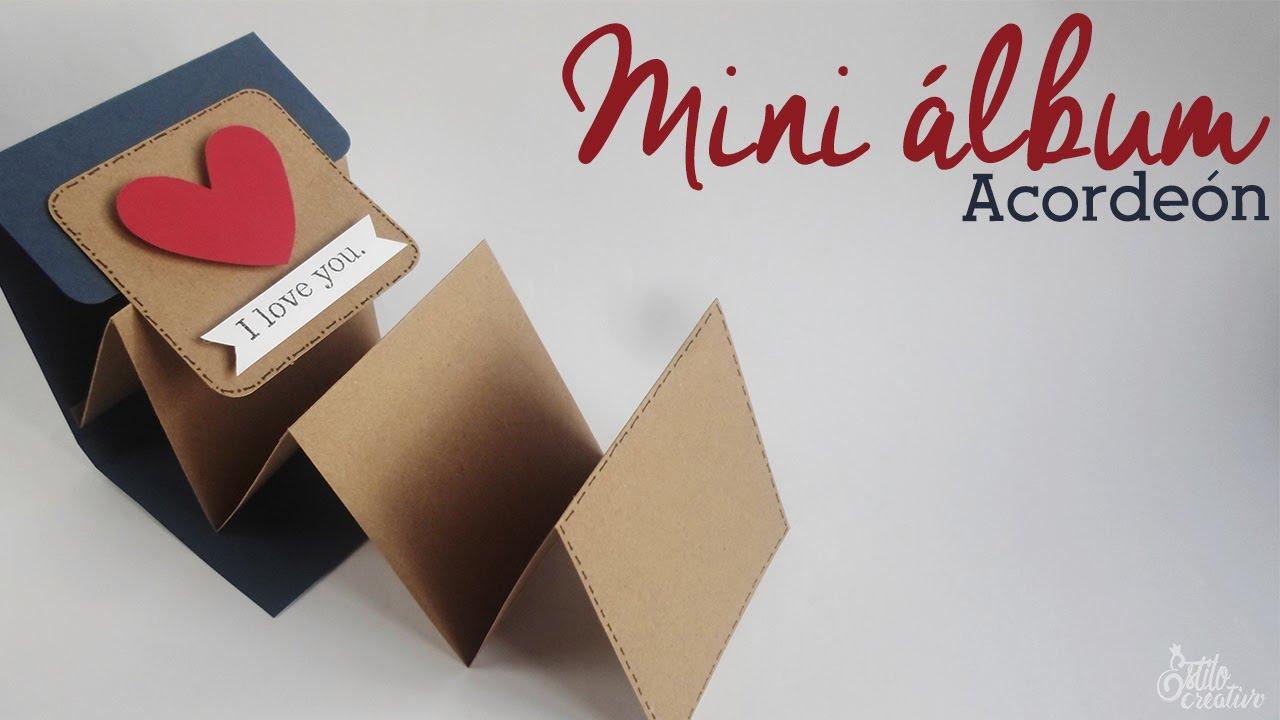 Mini Album Acordeon Scrapbook Dia De Las Madres