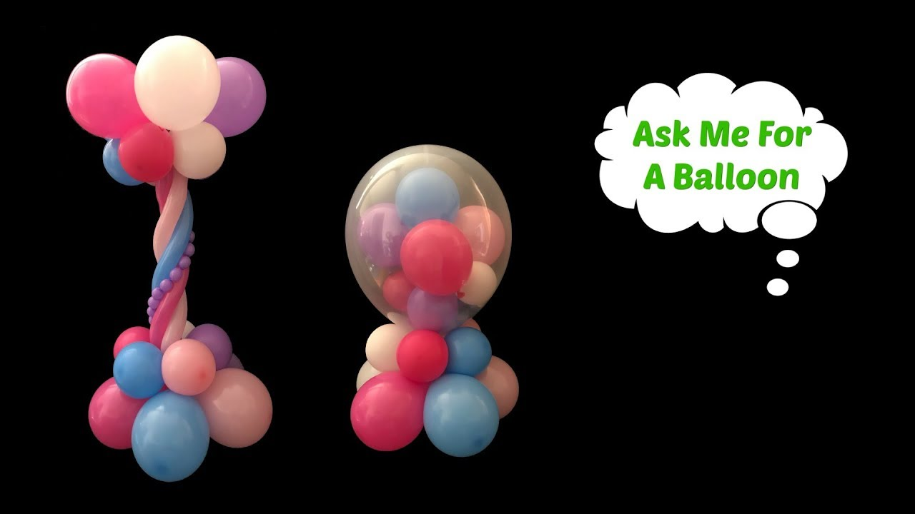 Centerpiece ideas balloon decoration tutorial youtube