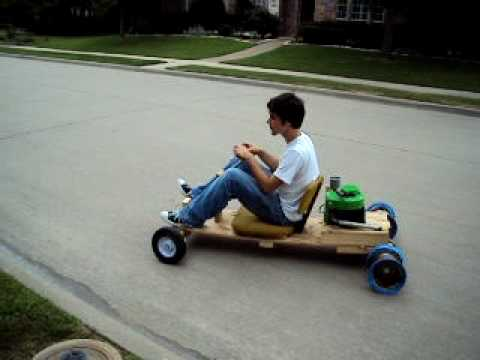 how to make a wooden go kart with an engine 2