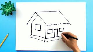 איך לצייר בית