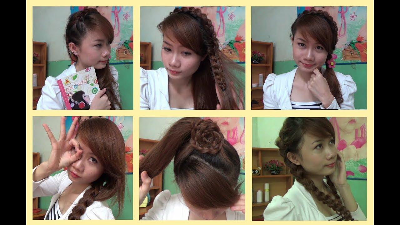Hairstyles - 5 Kiểu Tóc Tết Đẹp & Đơn Giản Để Đi Học Hoặc Đi Chơi