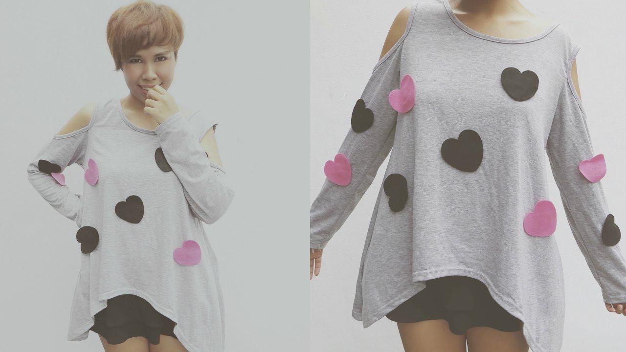 DIY FASHION: K-Pop Inspired Heart T-Shirt ( Changeable ...