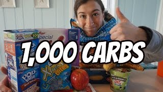 iifym full day of eating   1 000 carbs food challenge