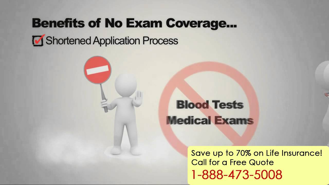No Exam Life Insurance   Call 1 888 473 5008 For Free Quote   YouTube