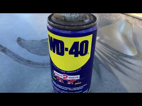 Crazy uses for WD-40 on body panels and interior wood. Jaguar & Trans Am