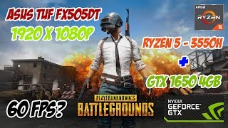 Asus TUF Gaming FX505DT-AL106T - PLAYERUNKNOWN'S BATTLEGROUNDS - 1920x1080p - Test