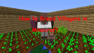 How to Breed Villagers in Minecraft 1.8.8 (HD)