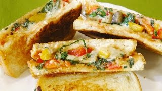 Vegetable Sandwich - Kids Lunch Box idea | madhurasrecipe