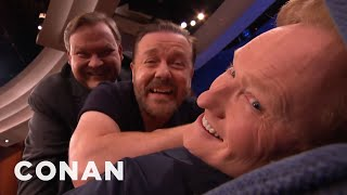 Ricky Gervais, Conan & Andy Make A Man-Wich  - CONAN on TBS