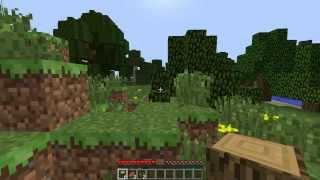 Эля и minecraft №1! Добыча дерева!
