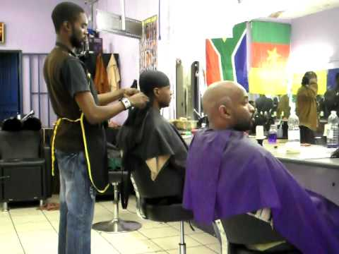 A moment at Chama's Unisex Hair Salon, Braamfontein, Johannesburg, South Africa