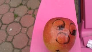 Annoying grape fruit helmet