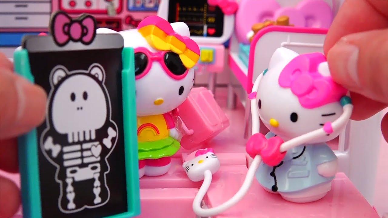 795a4cba2e8c Ambulance ! Bear Falls ! Toys and Dolls Fun with Hello Kitty Rescue ...