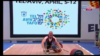 2014 European Weightlifting 105 kg C+Jerk  Part 3 of 3