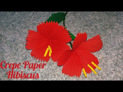 DIY/ How to Making Hibiscus Using Crepe Paper/Easy Paper Flower making/ By FAIZY VIBES