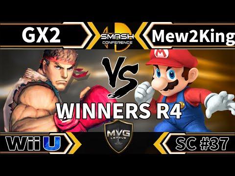 GX2 (Ryu) vs. COG MVG Mew2King (Mario) - SSB4 Winners R4 - Smash Conference 37