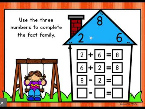 Solving Fact Family Houses: Addition and Subtraction