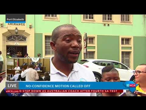 The DA's Mmusi Maimane speaks on the calling off of Trollip's no confidence vote