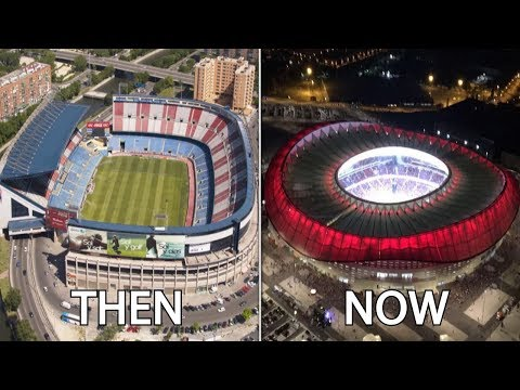 La Liga Stadiums Then & Now