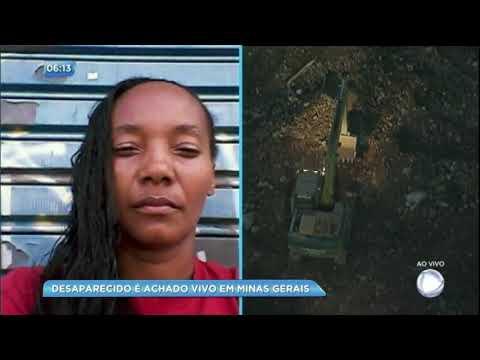 Homem dado como desaparecido em desabamento é encontrado em Minas Gerais
