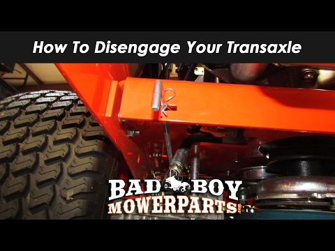 How to Disengage Your Transaxle