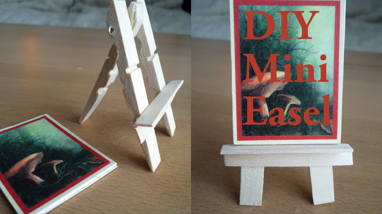 Mini Easel made from Recycled Clothes Pegs DIY Tutorial - YouTube
