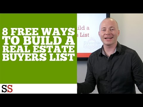 8 Free Ways to Build a Real Estate Buyers List