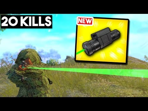 IS THE NEW LASER SIGHT OP? |20 KILLS Solo vs Squad| PUBG Mobile