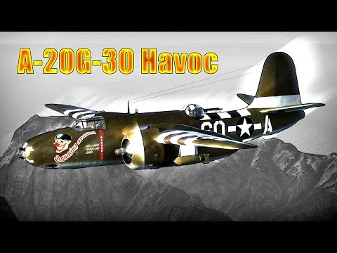 War Thunder: Tier-2, American Attacker, Douglas A-20G Havoc