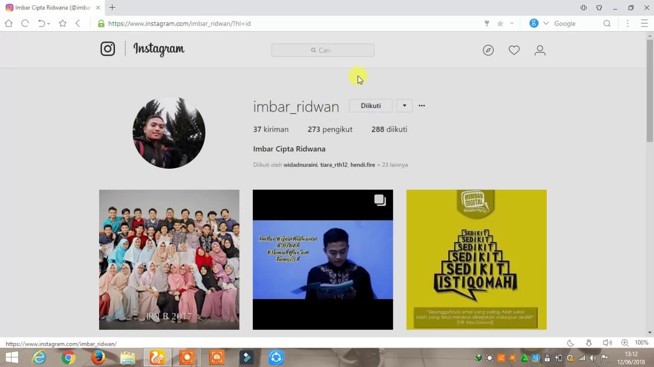 Cara mendownload foto di instagram melalui PC - YouTube