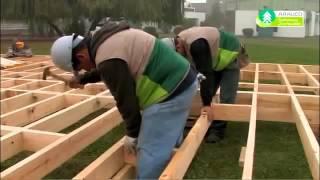 como hacer piso de madera