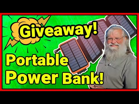 GIVEAWAY Portable Power Bank with Mini Solar Panels! Comment Below: #BRICK For a Chance to Win!