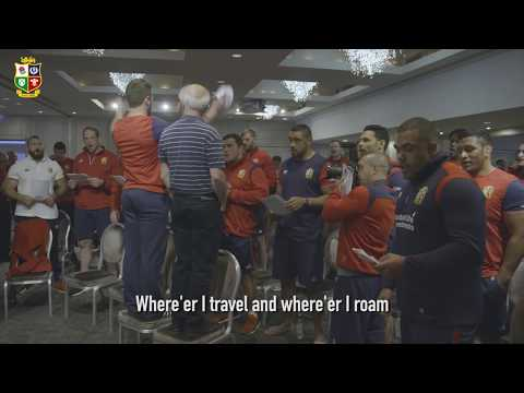 The Lions squad sing Highland Cathedral!   Sing Your Support   Lions NZ 2017