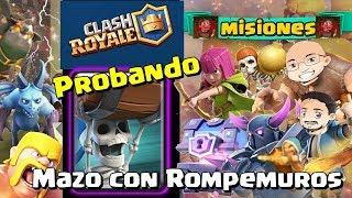 CLASH ROYALE ????️. Mazo con ROMPEMUROS. Doble victoria 1c1. Gameplay en español