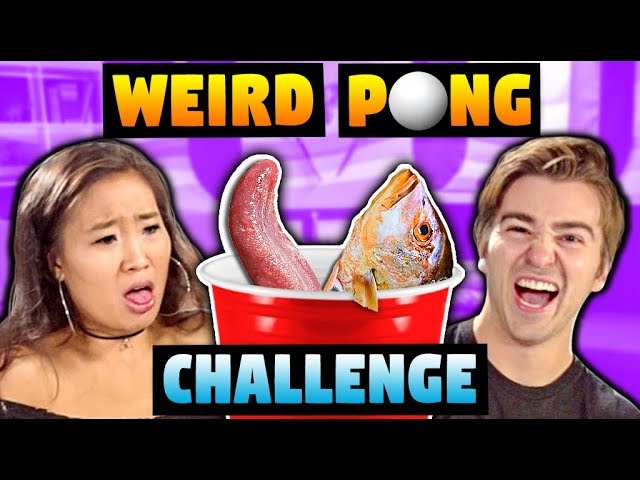 gross-pong-challenge-eating-cow-intestines