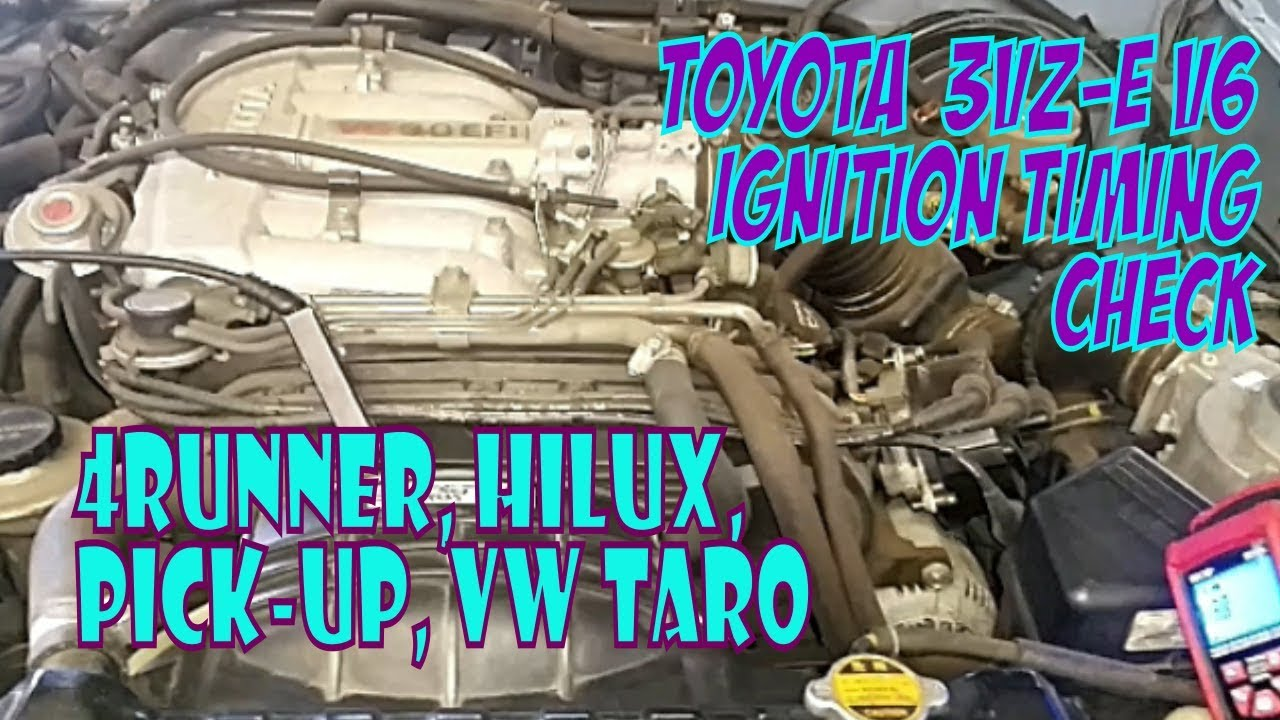 3VZ-E V6 Ignition Timing Check  Easy and Informative! Pick-up, 4Runner,  HiLux, Taro