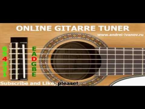 TUNE GUITAR, TUNER ONLINE TUNING AKUSTISCHE GITARRE mit Standardzeichenfolgen und Akkorde EBGDAE