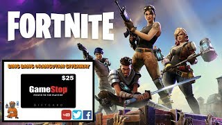 FORTNITE! $25 Gamestop Gift Card Giveaway information!!