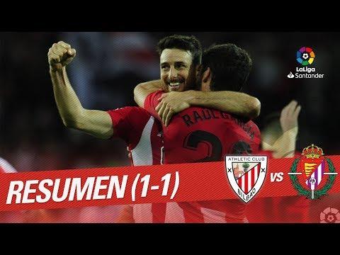 Resumen de Athletic Club vs Real Valladolid (1-1)