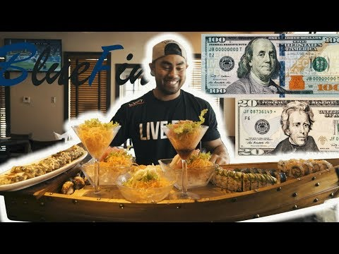 $120 WORTH OF SUSHI | GIANT SUSHI BOAT