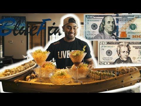 $120 WORTH OF SUSHI   GIANT SUSHI BOAT