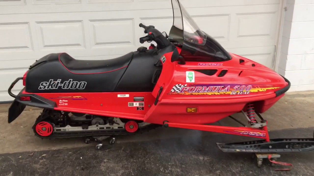 1997 Ski Doo Formula 500 Deluxe Snowmobile Walk Around Youtube