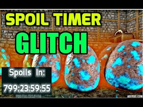 ARK GLITCH FOR RESETTING ALL SPOIL TIMERS!!